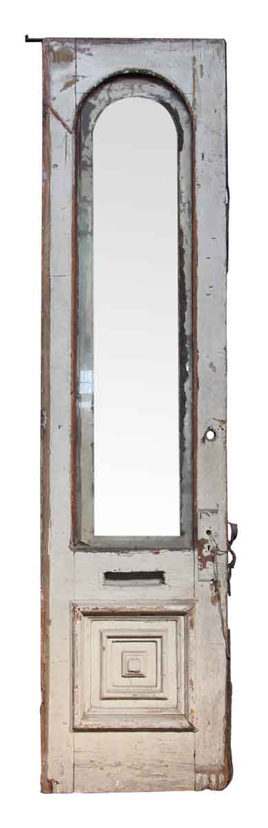 Wooden Door with Arched Glass Panel
