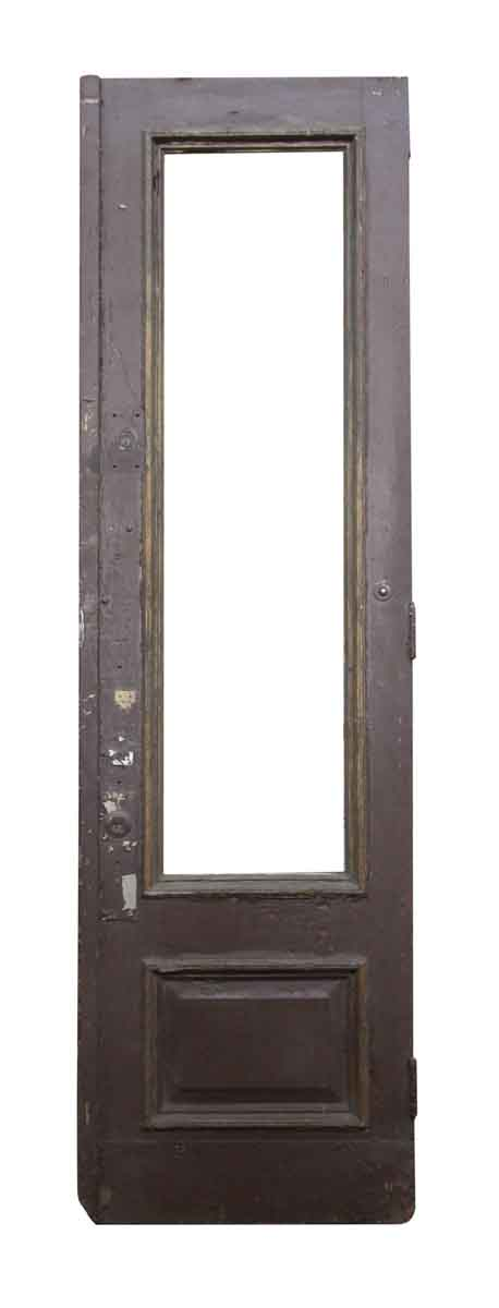Large Brownstone Door with Two Panels