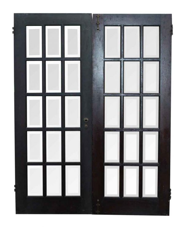 Pair of 15 Beveled Glass Doors