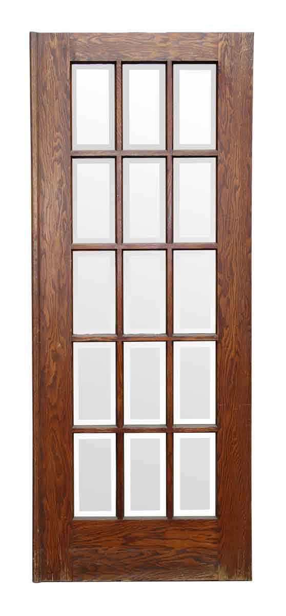 Door with 15 Beveled Glass Panels