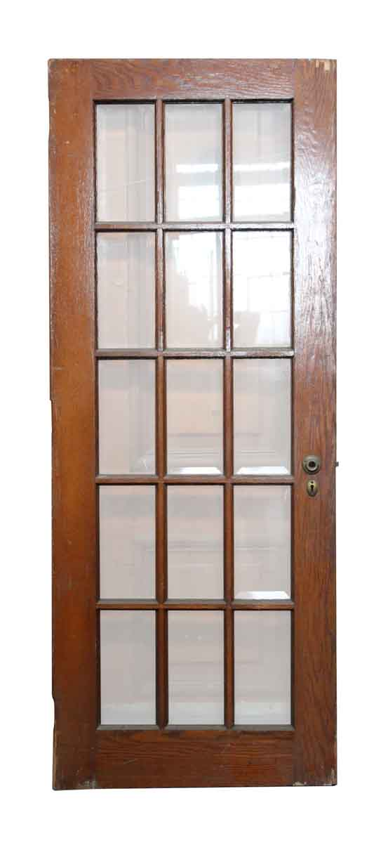 15 beveled glass panel wood door olde good things