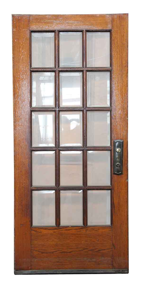 15 beveled glass panel wooden door olde good things for 15 glass panel door