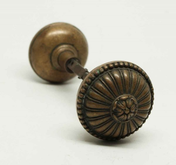 Floral Greek Bronze Knob Set