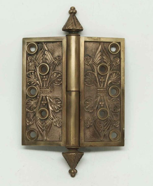 Highly Decorative Steeple Tip Bronze Hinge