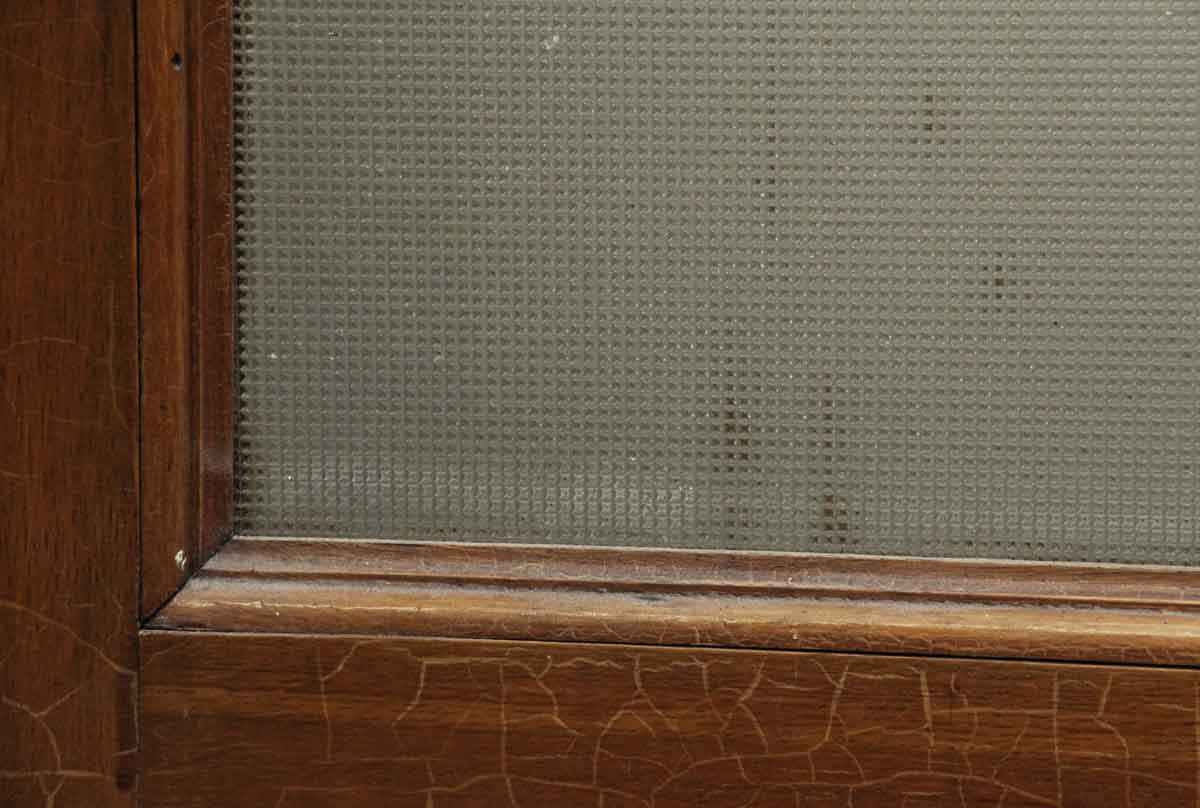 Squared textured glass panel door olde good things for Textured glass panels