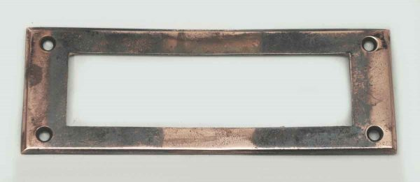 Copper Mail Slot Back Plate