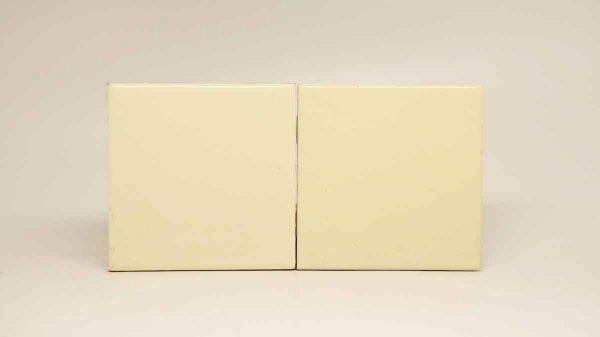 Pair of Pale Cream Tiles