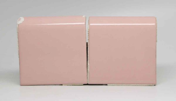 Pair of Curved Cap Pink Tiles
