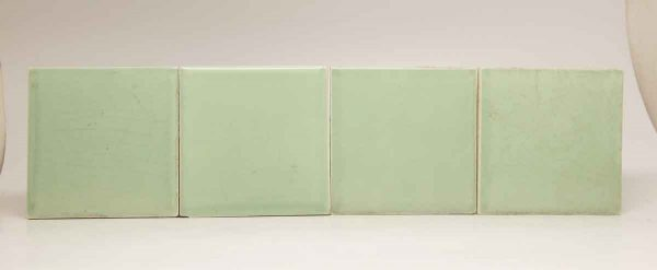 Set of Four Square Green Tiles