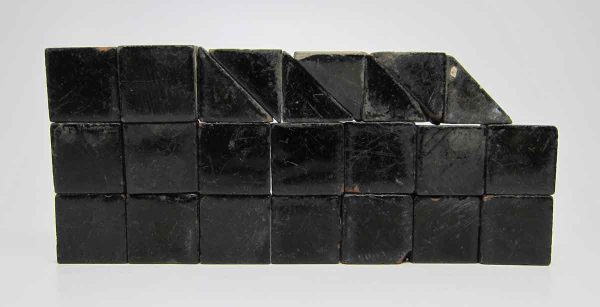 Set of 22 Black Square and Triangle Tiles