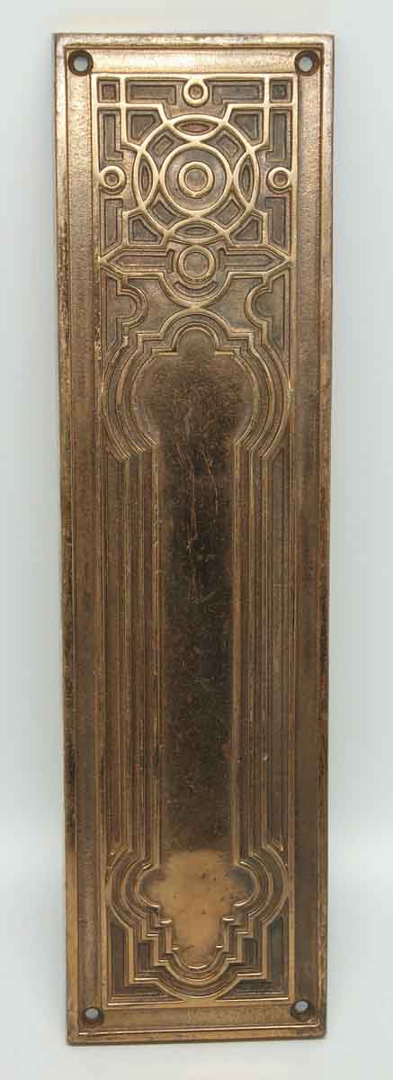 Cast Bronze Highly Decorative Gilded Push Plate