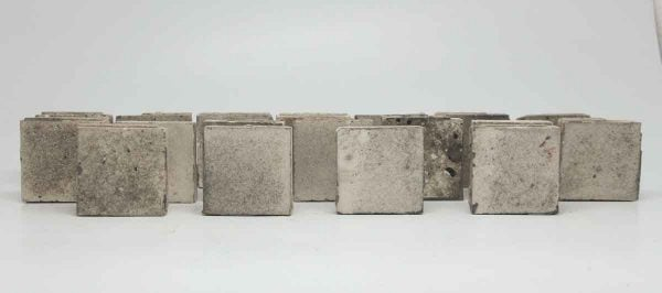Set of 18 Gray Square Tiles