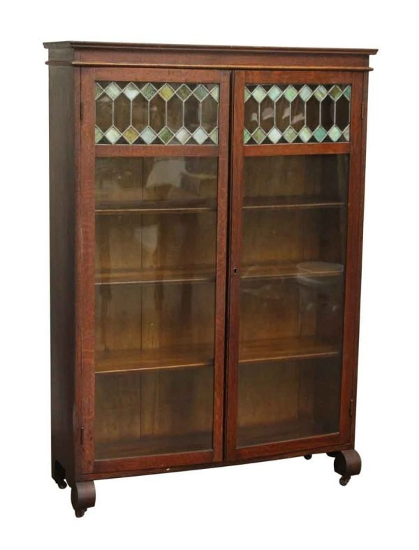 Rolling Stained Glass Bookcase
