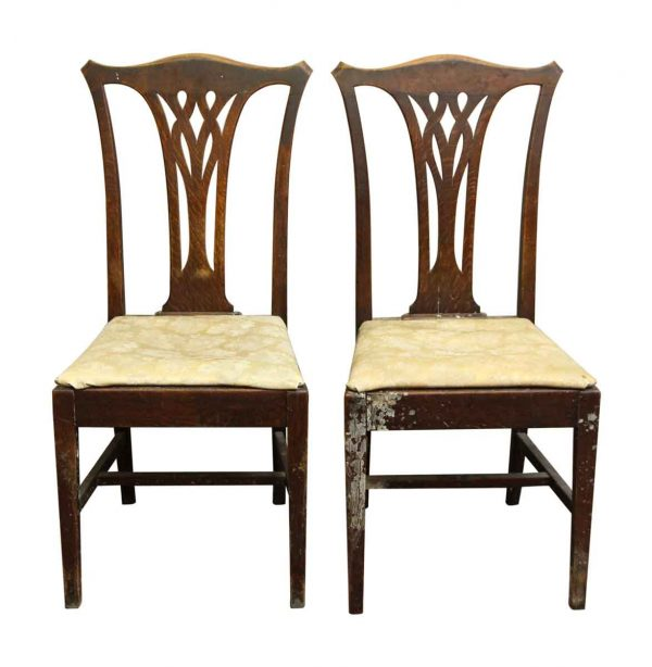 Pair of Wood Framed Floral Upholstered Chairs