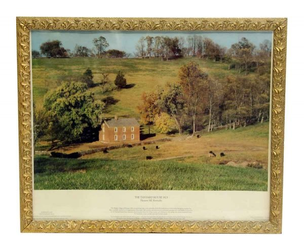 the Tanyard House Print with Ornate Frame