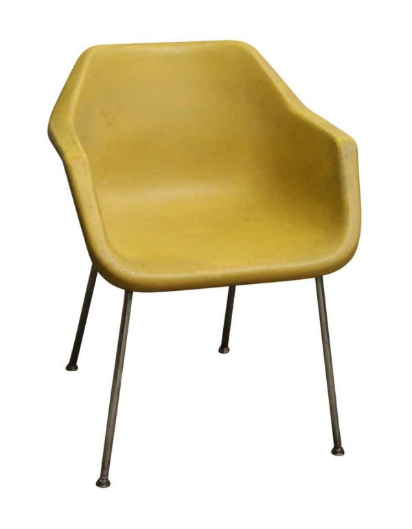 1960s Molded Plastic Chairs with Chrome Frame