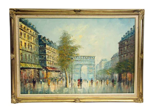 Signed Painting in Ornate Frame