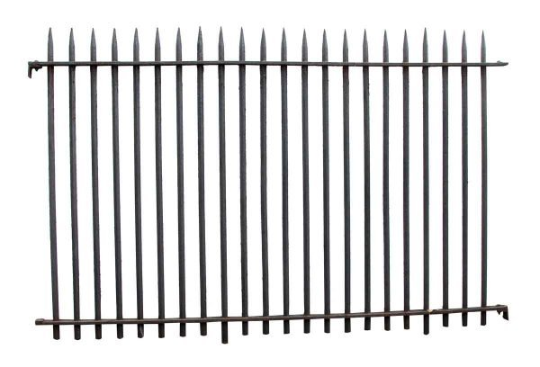 Wrought Iron Double Entry Gates with Matching Fence