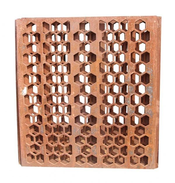 Cast Iron Geometric Divider Screen with Mid Century Look