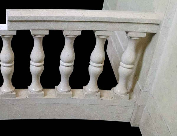 Slightly Curved Marble Balustrade & Post Set