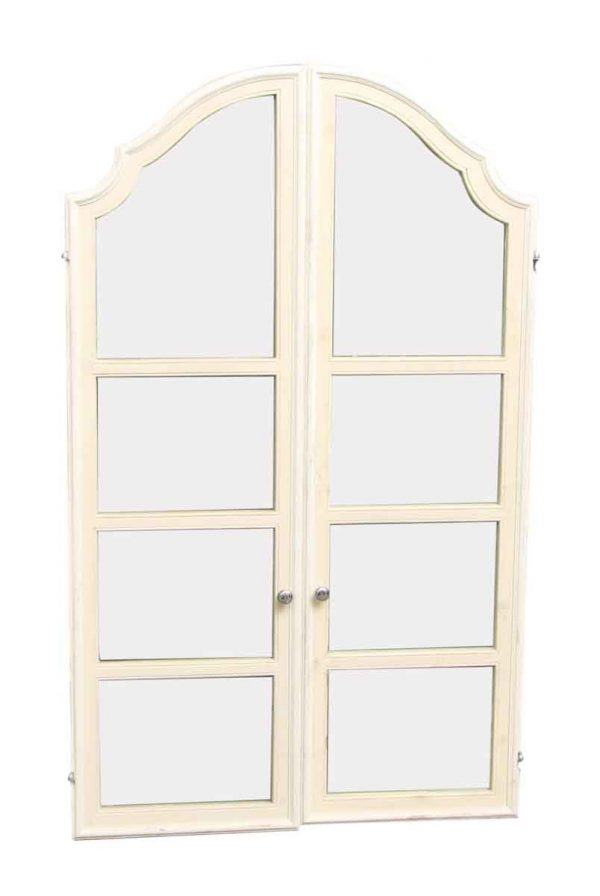Pair of Wooden Arched Cabinet Doors