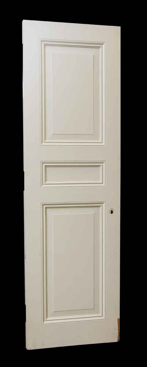 Reclaimed White Wooden Door with Three Raised Panels