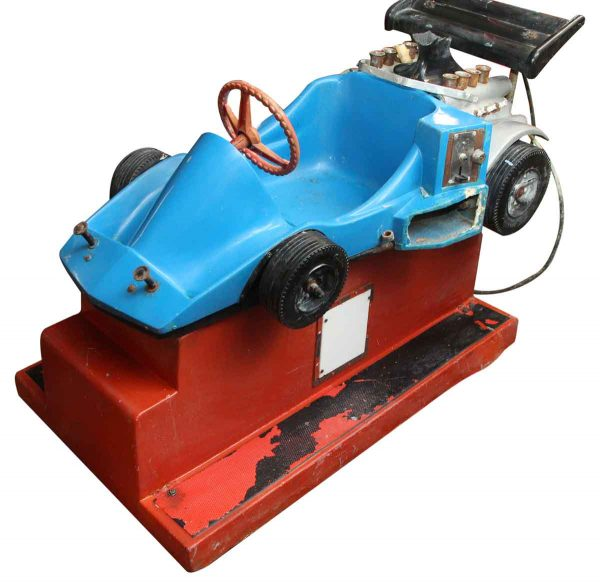Blue Race Car Amusement Park Kiddy Ride