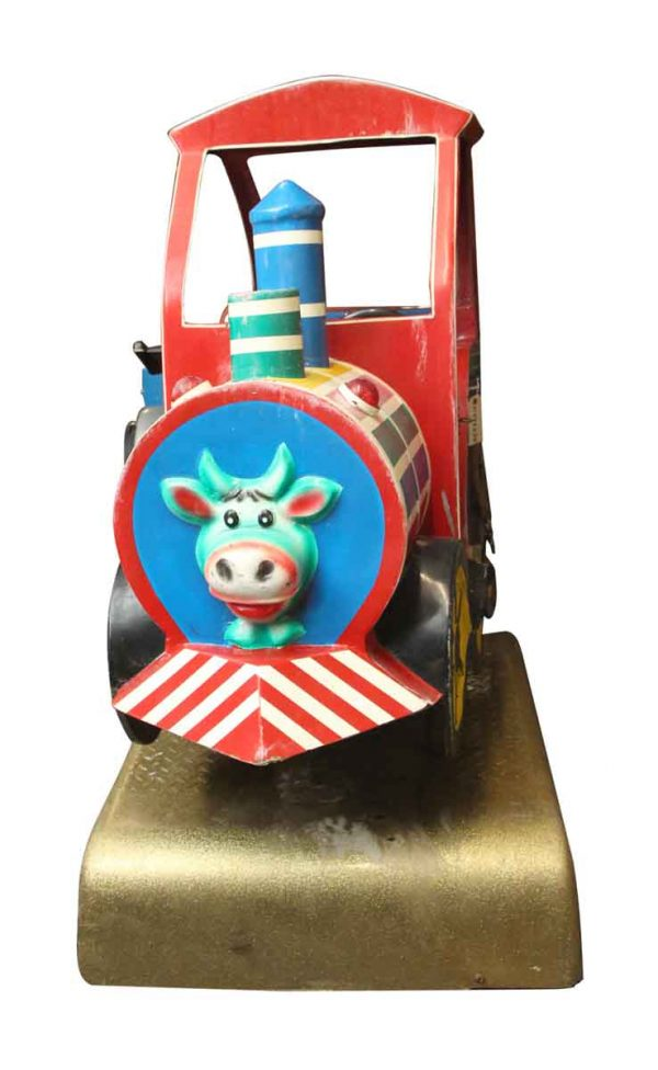 Train Engine with Cow Face Kiddy Ride