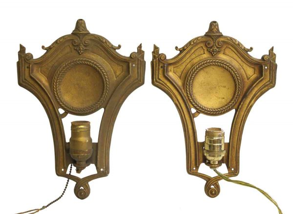 Pair of Federal Style Gold Sconces