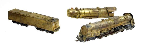 Brass Train Set with Parts
