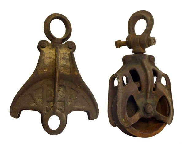 Pair of Old Pulleys