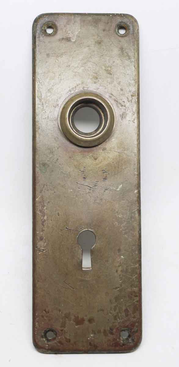 Plain Pressed Brass Back Plate with Keyhole