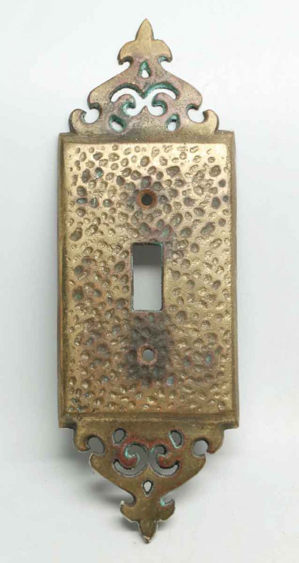 Hammered Metal Switch Plate