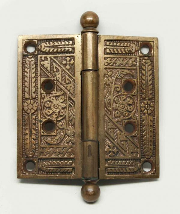 Bronze Decorative Hinge With Ball Tips