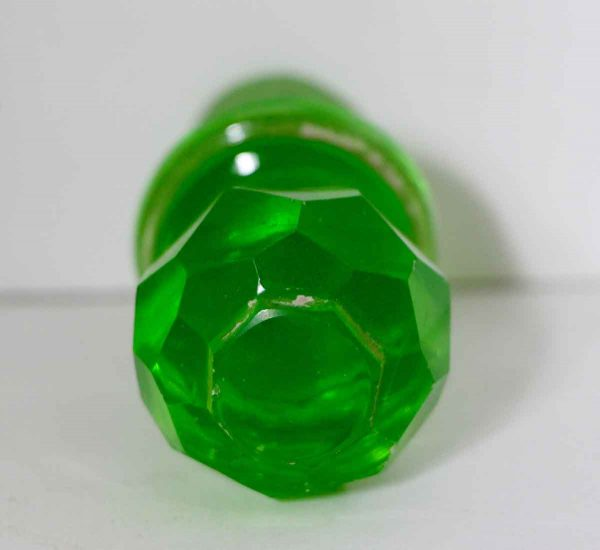 Faceted Green Assorted Glass Stoppers
