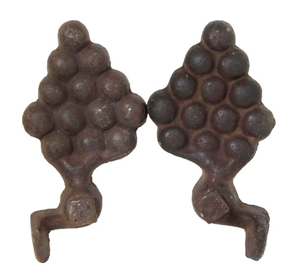 Pair of Grape Iron Decorations
