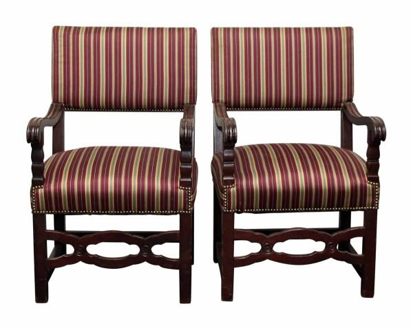 Pair of Striped Chairs