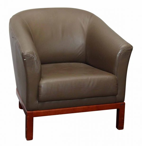 Tan Leather Arm Chair