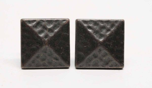 Pair of Square Hammered Knobs