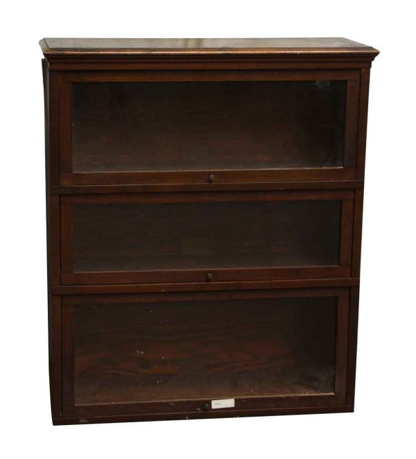 Dark Wooden Barrister Bookcase