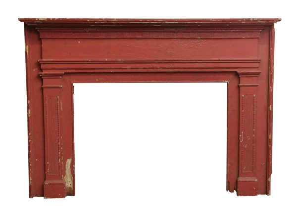 Simple Federal Style Wood Mantel with Wall Mounts