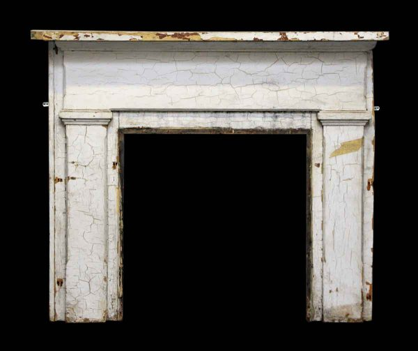 Small Simple Pine Mantel Painted White