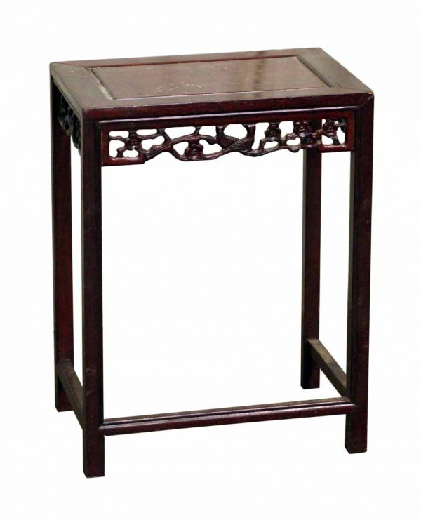 Small Asian Red Wood Side Table