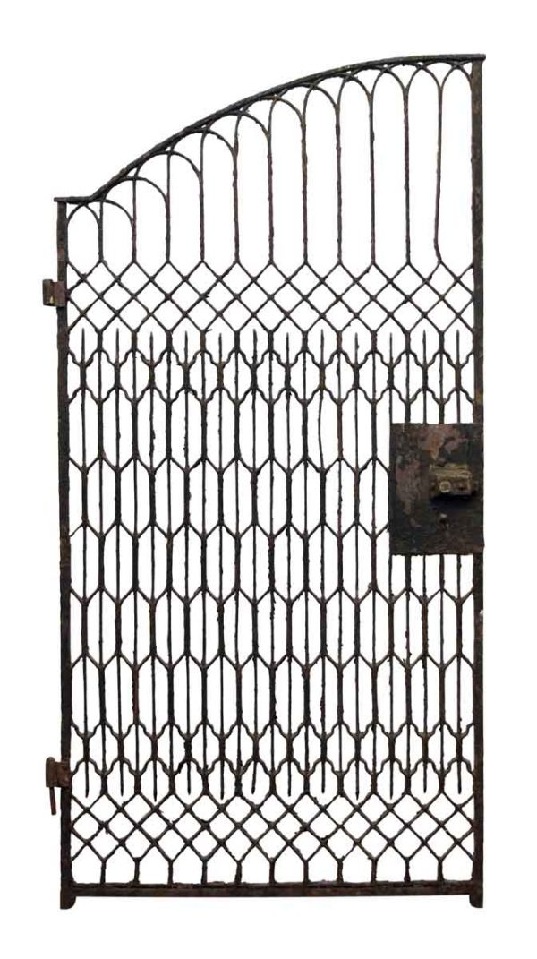 Single Semi Arch Brownstone Iron Gate