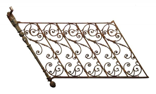 Fancy Forged Iron Railing with Post & Finial