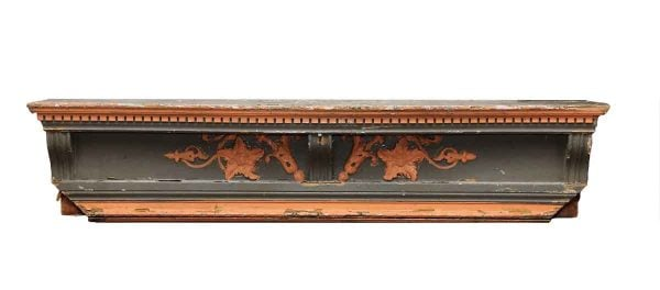Carved Wooden Mantel Shelf
