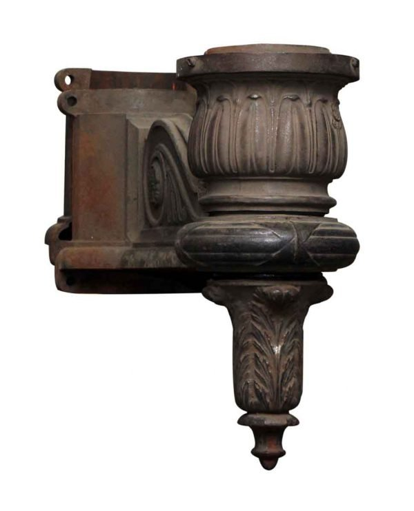 Large Pair of Cast Iron General Electric Lamp Post Sconces