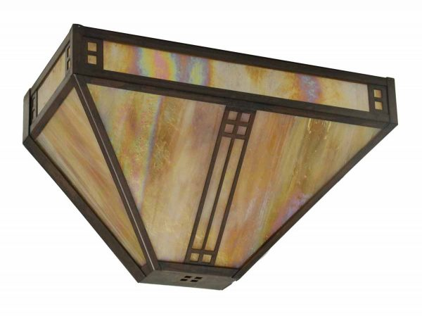 Arts & Crafts Stained Glass Sconce
