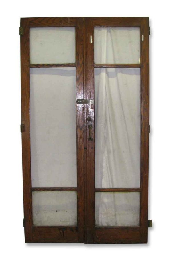 Double doors with glass panes