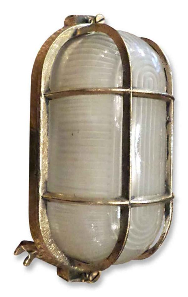 Brass Ceiling Mount Ship Light with Single Valve